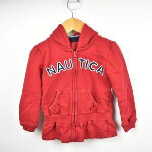 Cherry red full zip hoodie from Nautica 4T